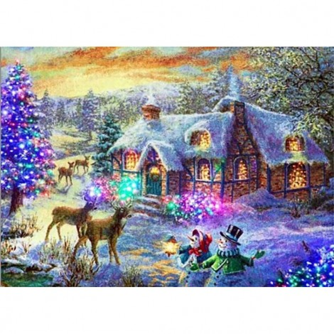 Christmas Cottage (50 x 70 picture size)