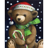 Christmas Bear (40 x 50 actual picture size)