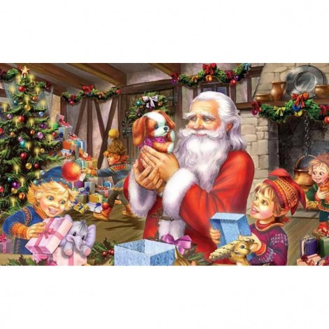 Children Wrapping Gifts (50 x 82 picture size)