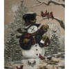 Bird House Snowman (45 x 50 actual picture size)