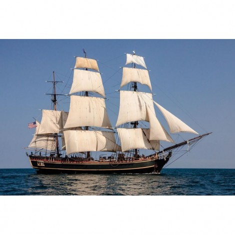 Tall ship 2 (58 x 48 actual picture size)